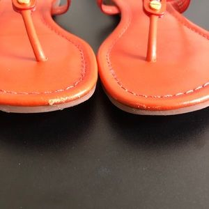 Tory Burch Shoes - Tory Burch Miller Orange leather sandals BX81